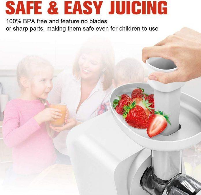 KOIOS Slow Masticating Juicer - Higher juicer yield