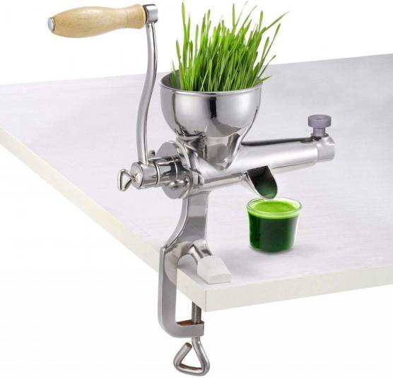 Manual wheatgrass juicer