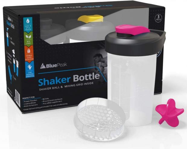 BluePeak Protein Shaker Bottle – Dual Mixing technology