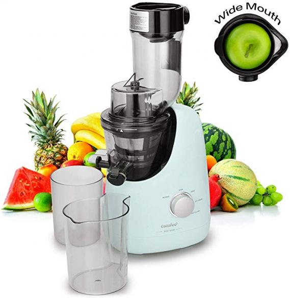 COMFEE' BPA Free Masticating Juicer Extractor with Ice Cream Maker Function