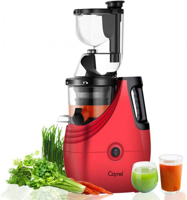 Caynel Slow Masticating Juice Extractor Cold Press Juicer