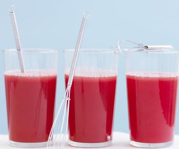 Watermelon and Raspberry Juice