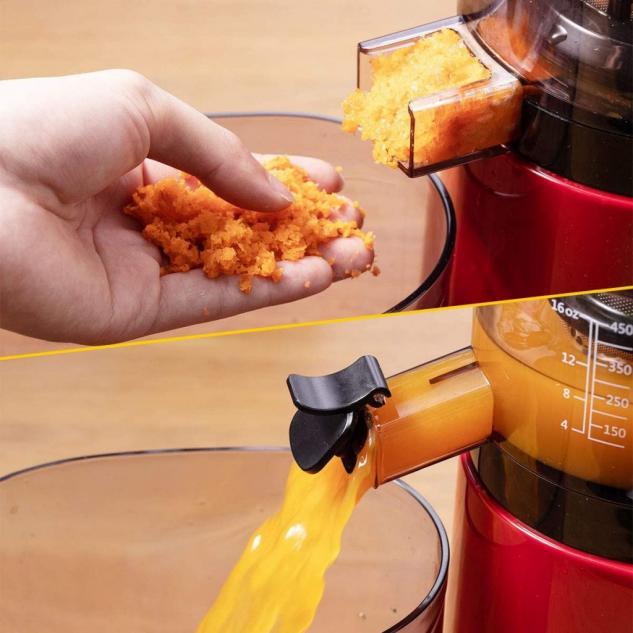 SKG Juicer Q8 Wide Chute Vertical Masticating Juicer